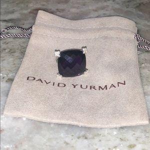 David Yurman 20mm Amethyst Cushion on Point Ring